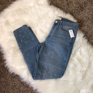 Gap True Skinny Paisley Print Jeans Size 8